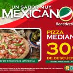 Benedetti's Pizza descuento en pizza mediana mexicana