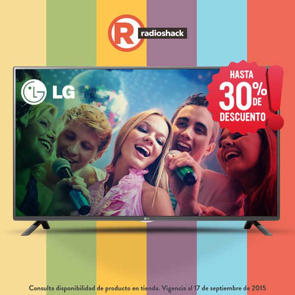 RadioShack Hasta 30% de descuento en pantallas LG y Más