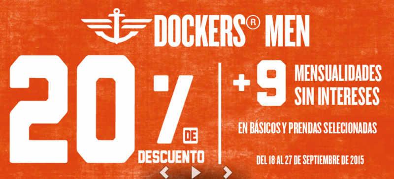 Sears descuento mas 9 MSI en Dockers Men