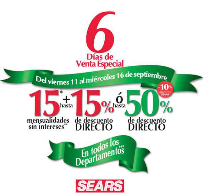 Sears Venta Especial del 11 al 16 de Septiembre