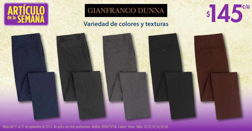 Suburbia Artículo de la Semana Pantalones de Vestir Gianfranco Dunna