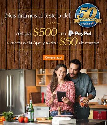 Superama descuento en App pagando con PayPal