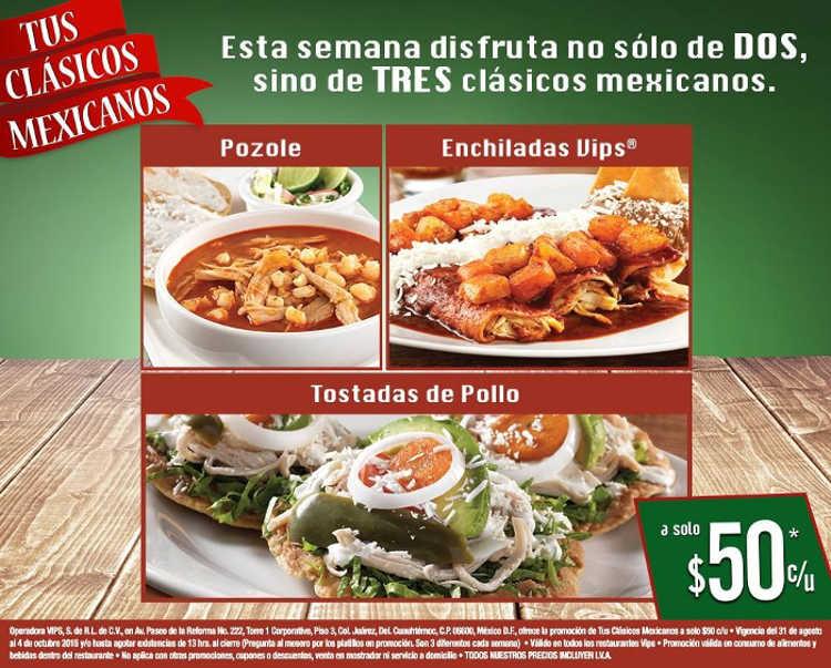 Vips Clasicos Mexicanos Pozole, Enchiladas y Tostadas