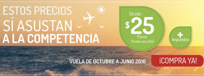 Vivaaerobus Viajes y vuelos desde $25 mas impuestos