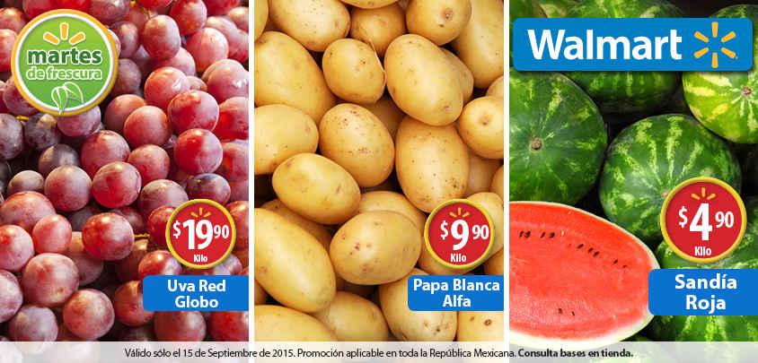 Walmart Martes de Frescura Frutas y Verduras 15 de Septiembre