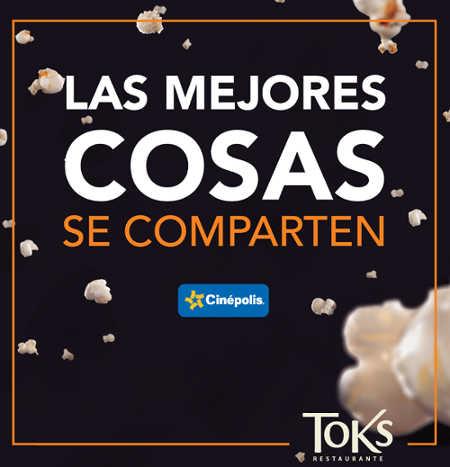 2X1 en Cinépolis con Toks Restaurantes