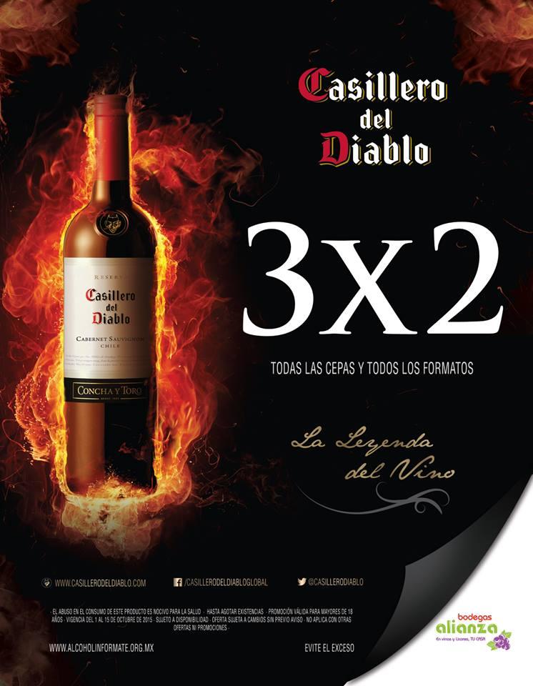 Bodegas Alianza: 3x2 en Casillero del Diablo