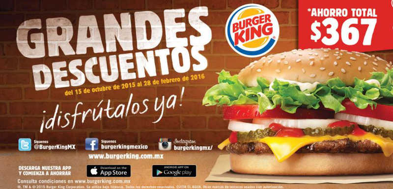Burger King Cuponera 2015 2016