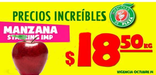 Miercoles de Plaza en La Comer Frutas y Verduras