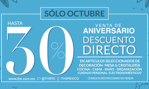 Venta de Aniversario The Home Store