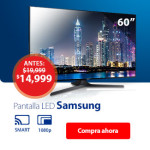 Walmart TV Samsung 60 Pulgadas 1080p Full HD Smart TV LED