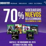 Blockbuster descuento en videojuegos Xbox One y PS4