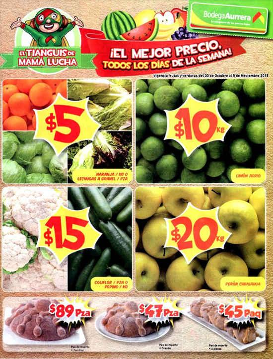 Bodega Aurrera Tianguis de Mamá Lucha Frutas y Verduras
