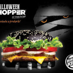 Burger King Halloween Whoper con pan negro