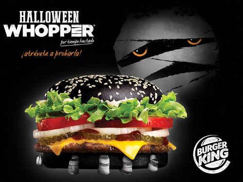 Burger King Halloween Whoper con pan negro