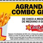 Carl's Jr Cupones Agranda tu combo gratis