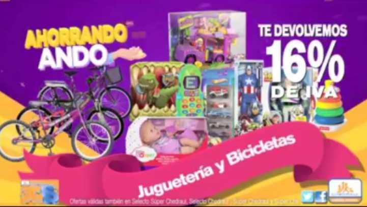 Chedraui Bonificación del IVA en juguetería y bicicletas