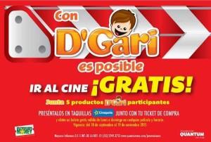 Boletos gratis de Cinépolis con Gelatinas D'Gari