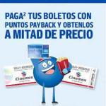 Cinemex descuento de lunes a domingo con Payback