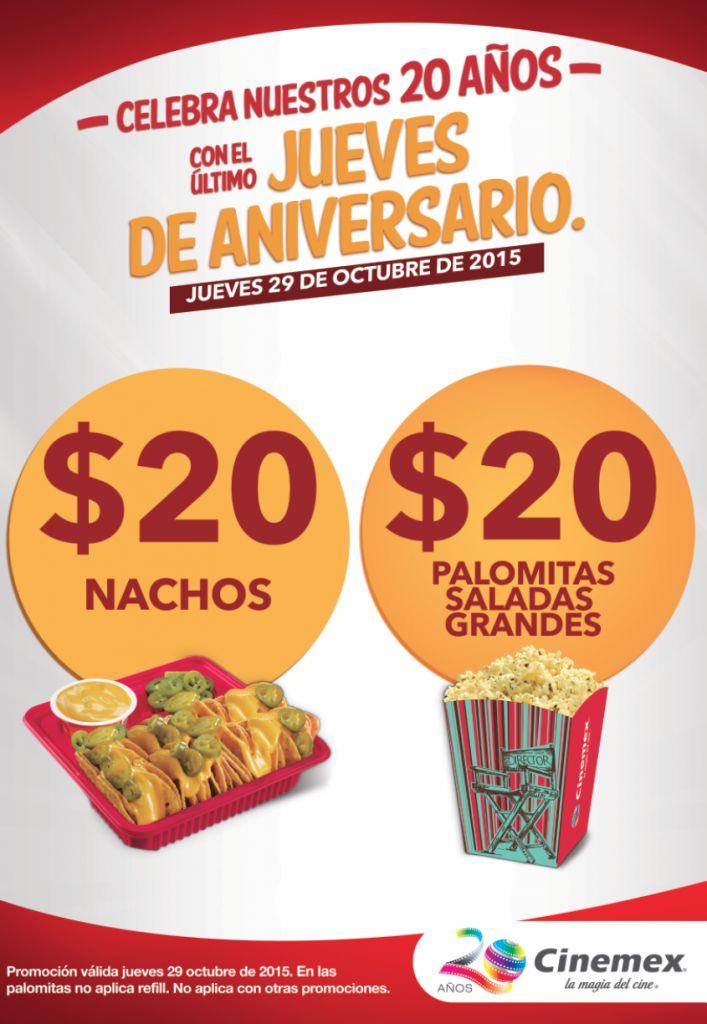 Cinemex promoci n nachos y palomitas a 20 jueves 29 de for Cuanto cuestan las albercas en walmart