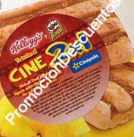 2×1 en Cinépolis con barras Kelloggs y papas Pringles