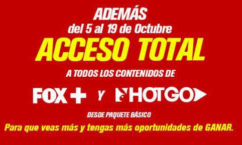 Dish Móvil Acceso total a canales FOX+ y HotGO