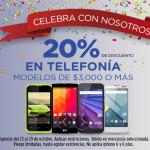 Elektra 20% de descuento en telefonia