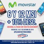 Famsa descuento en celulares Movistar