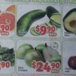 Frutas y verduras en Soriana Mercado