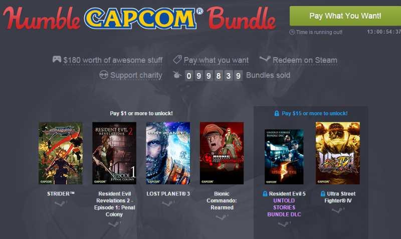 Humble Capcom Bundle Octubre 2015