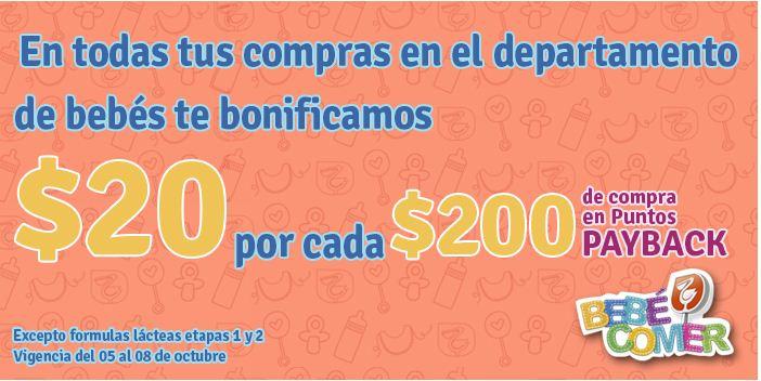 La Comer bonificación de $20 por cada $200 de compra en Bebés