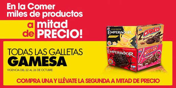 La Comer: Mitad de precio en segunda compra en Pañales, Galletas Gamesa y más