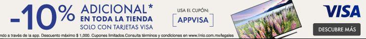 Linio descuento adicional con Visa desde la App