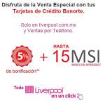 Liverpool meses sin intereses y bonificación con Banorte
