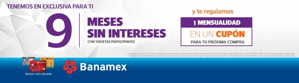 Netshoes meses sin intereses y 1 de bonificación con Banamex
