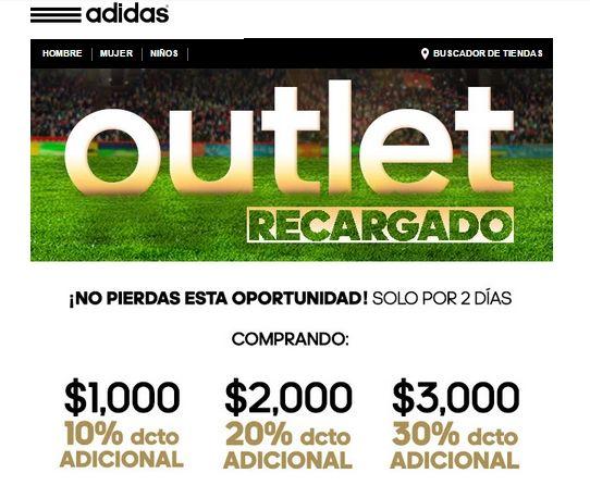 Outlet Adidas descuento adicional en compra mínima