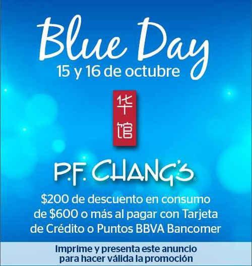 P.F. Chang's $200 de descuento consumo mínimo