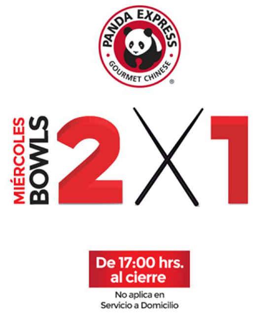 Panda Express 2x1 en bowls todos los miércoles