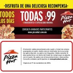 Pizza Hut Todas las pizzas a $99 pesos
