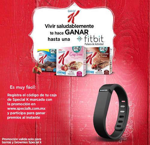 Promocion Special K Gana una pulsera Fitbit