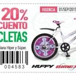 Soriana Cupón de descuento de 20% en biciletas