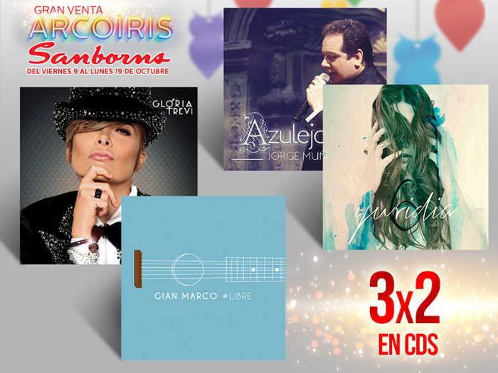 Venta Arcoíris Sanborns 3×2 en películas, series y CDs