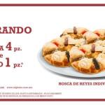 Pastelerías El Globo Rosca de Reyes