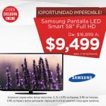 Elektra Buen Fin 2015 Pantalla Samsung y LG