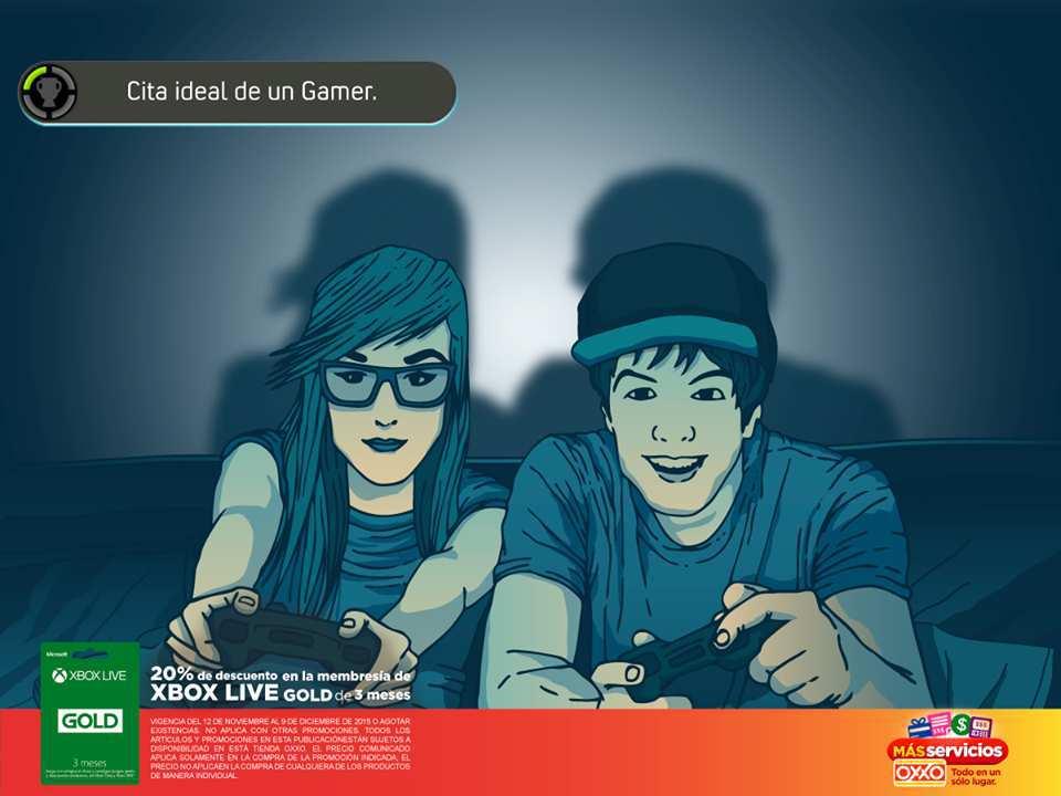 OXXO Descuento en membresía Xbox live Gold