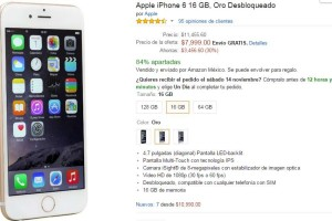 Amazon Buen Fin 2015 iPhone 6 en $7,999