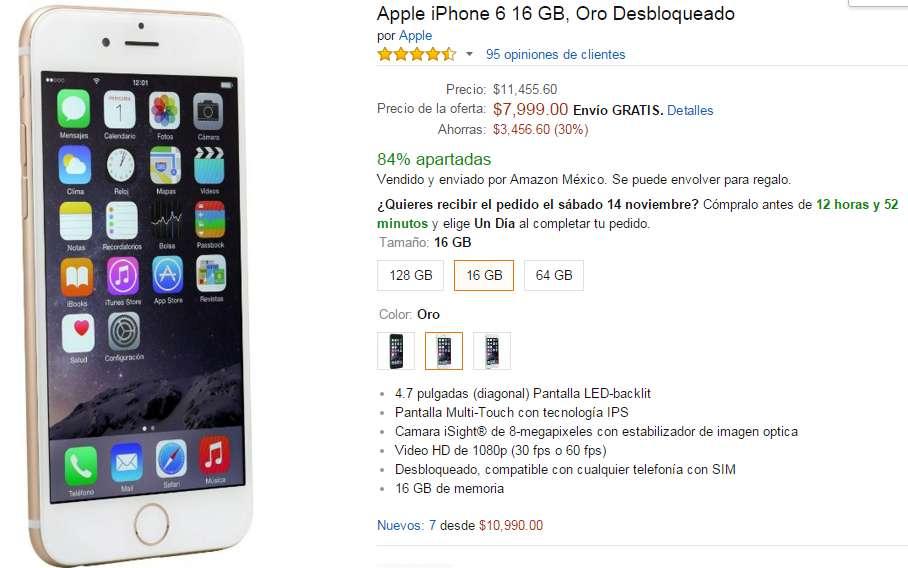 precio de iphone 6 en amazon