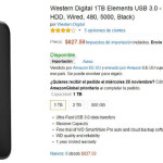 Amazon Disco duro externo Western Digital 1TB