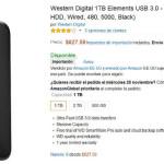 Amazon Disco duro externo Western Digital 1TB
