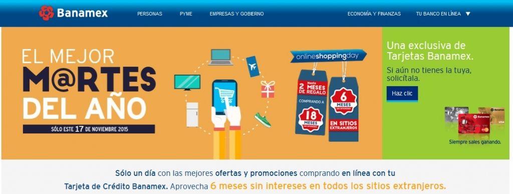 Banamex Promociones Cyber Martes 2015